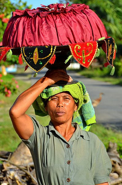 "Ibu-ibu pembawa ""pahar"" di Krui, Pesisir Barat. Pahar adalah bawaan, bisa berupa bahan pokok, untuk yang punya hajat."