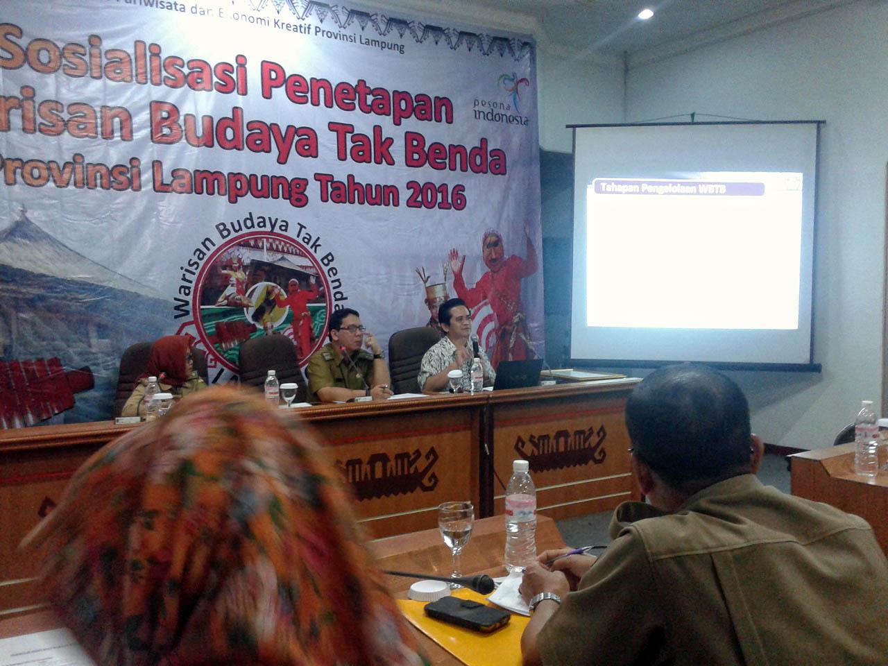 sosialisasi pencatatan Warisan Budaya Tak Benda Lampung 2016 - Yopie Pangkey