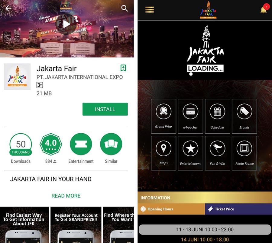 Aplikasi Android Jakarta Fair - yopie pangkey