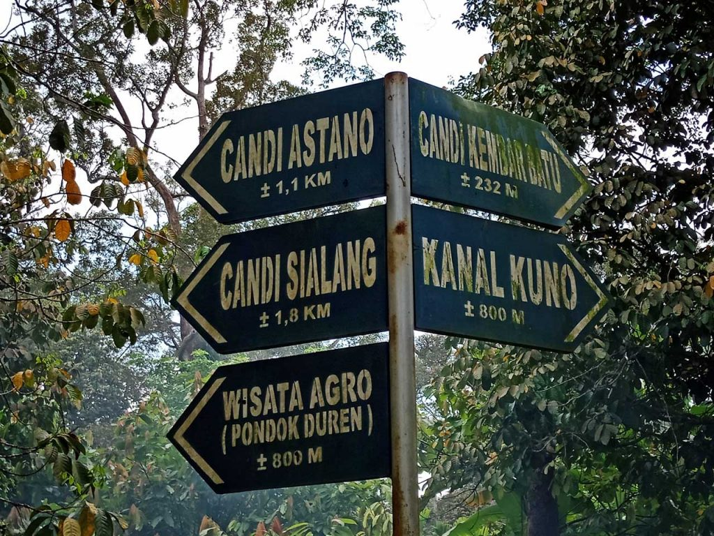 Candi Astano - Candi Sialang - Candi Kembar Batu - Kanal Kuno