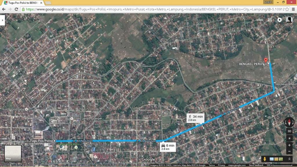 Rute ke Bengkel Perut d' Sawah