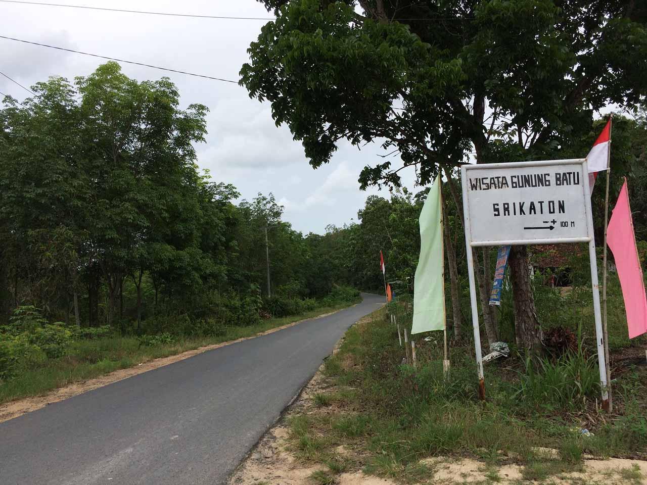 Plang Wisata Gunung Batu Srikaton - Yopie Pangkey
