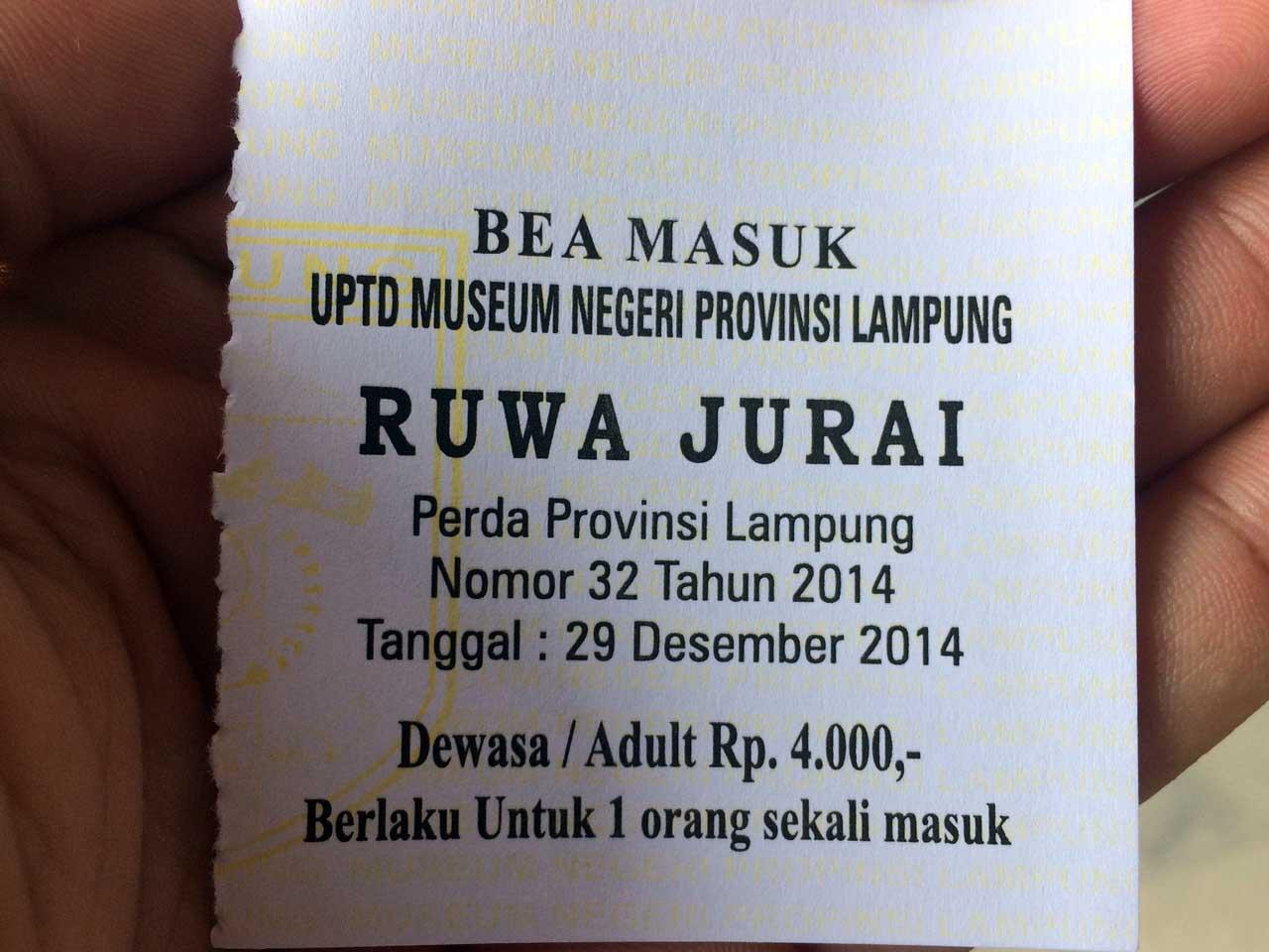 Karcis Museum Lampung - Yopie Pangkey - 14