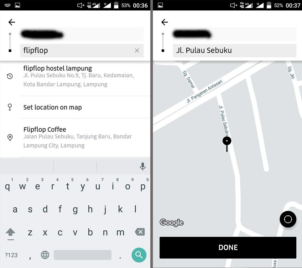 cara pesan taksi uber lampung - yopie pangkey
