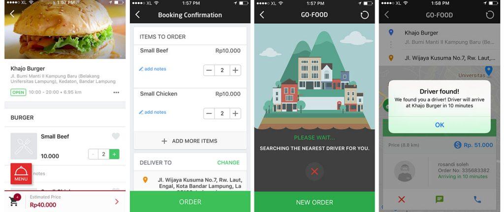 cara pesan makanan online lewat gojek - bandar lampung