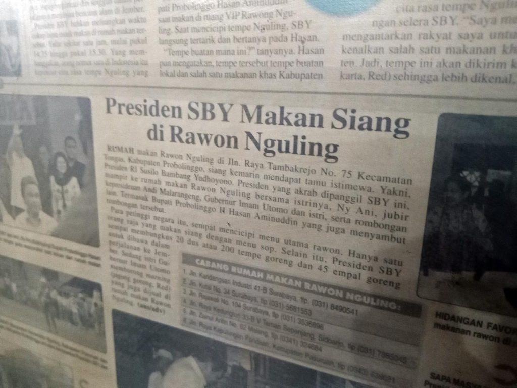Presiden SBY Makan Siang di Rawon Nguling Probolinggo - Yopie Pangkey - 5